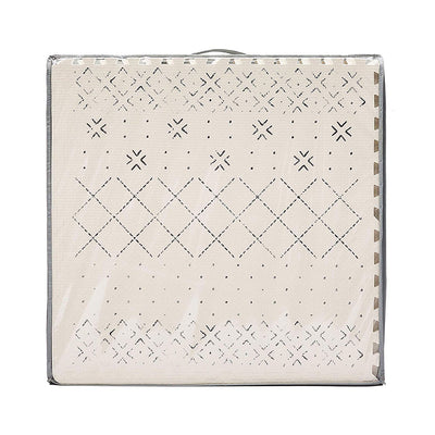 Carter Mudcloth Tan Neutral Play Mat in Package