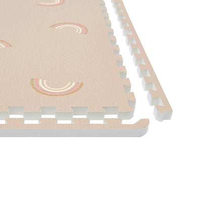 Corner Edge Details for Emery Rainbow Soft Mat for Baby