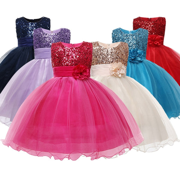 Princess Flower Girl Dress Summer Tutu Wedding Birthday Party Dresses For Girls