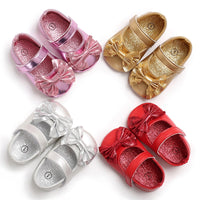 Toddler Shoes First Walkers Soft Gold Silver Girls Boot For Kids
