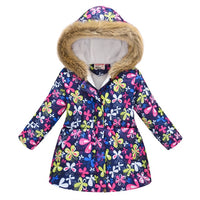 Printed Thick Outerwear Jacket Hooded Coats
