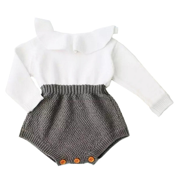 Newborn Baby Girl Clothing Rompers Wool Knitting Tops Long Sleeve