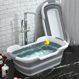 Portable Silicone Folding Non-Slip Baby Bathtub