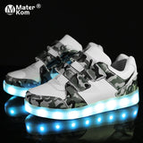 USB Charging Children Sneakers with Sole Led Light
