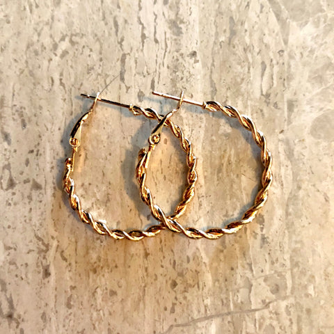 Gold Style Hoops