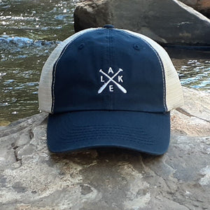 Lake Hat with Ponyflo Design