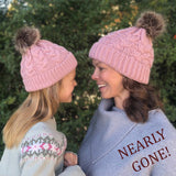 Matching Mom/Daughter knit hats Pink