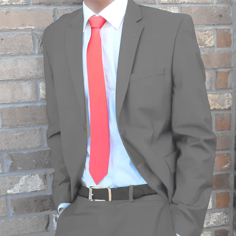 Slim_tie_coral_pink_brown_suit