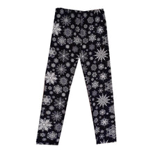 Load image into Gallery viewer, Black with white snowflake super soft leggings