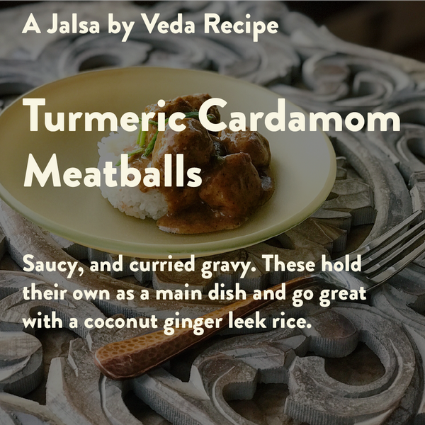 Turmeric Cardamom Meatballs With Curry Gravy