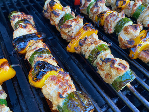 grilled indian spice kabobs photo