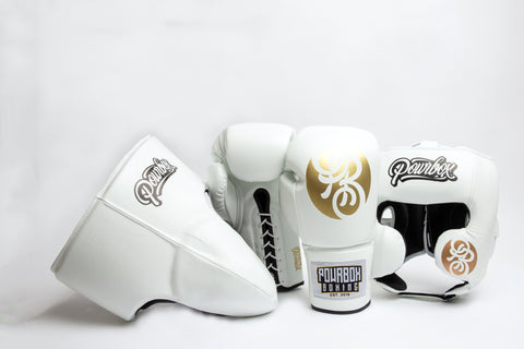 Premium Sparring Kit (White/Gold)