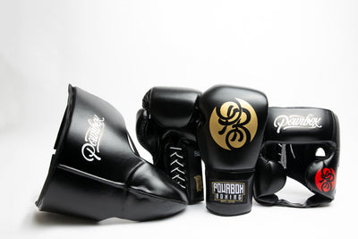 Premium Sparring Kit (Black/Gold).