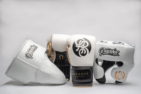 Unstoppable Essentials Sparring Kit (White/Black) - Customized.