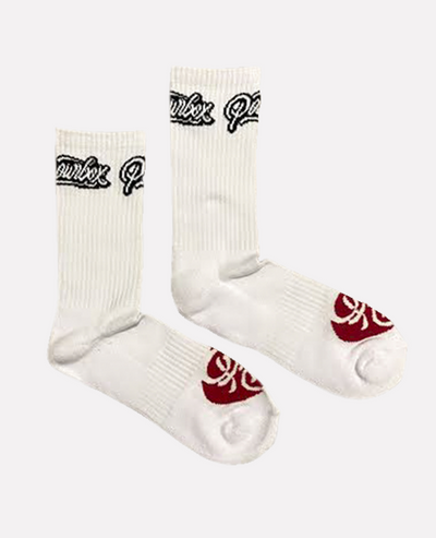 Powrbox Training Socks (White).