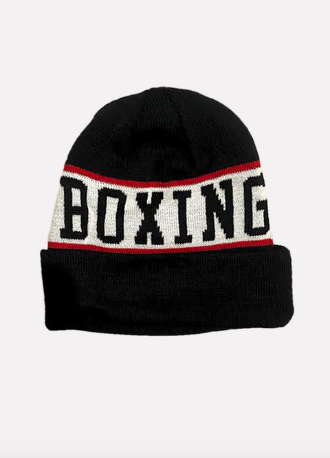 Powrbox Boxing Team Beanie (Black/White/Red)