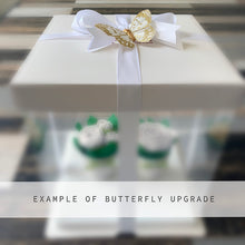 Load image into Gallery viewer, Blue and White Flower Cupcakes