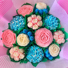 Load image into Gallery viewer, Baby Pink, Baby Blue, and White Flower Bouquet