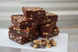 Chocolate Fudge Pecan Brownies (GF Options Available)