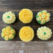 Load image into Gallery viewer, Yellow and White Flower Cupcakes