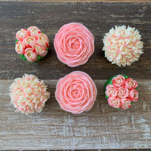 Load image into Gallery viewer, Pink and White Flower Cupcakes