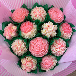 Pink and White Classic Flower Bouquet