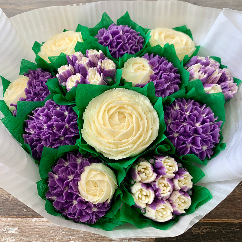 Purple and White Classic Flower Bouquet