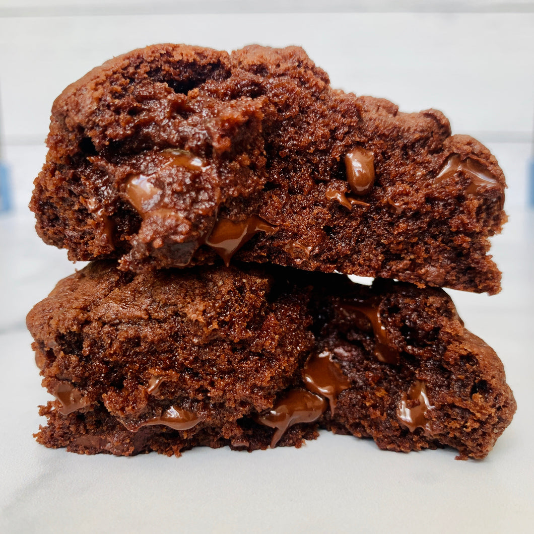 Double Chocolate Bakery Style Cookies