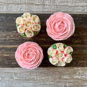 Baby Pink and White Flower Cupcakes (4)