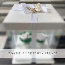 Load image into Gallery viewer, Purple and White Flower Cupcakes