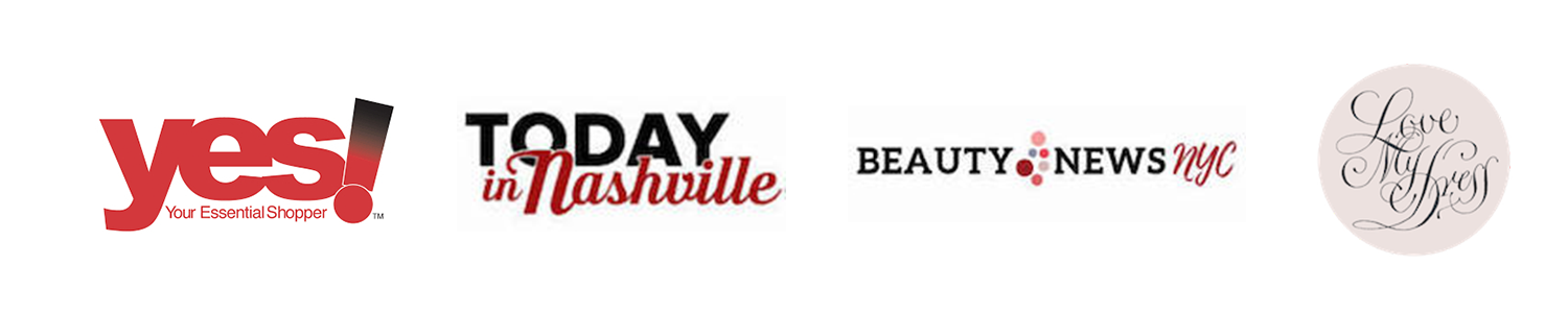Yes! Your Essential Shopper Logo, Today In Nashville Logo,Beauty News NYC logo, and Love My Dress Logo