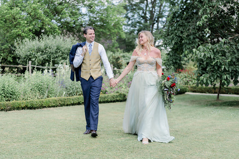 Bride and Groom at Kelmscott Manor