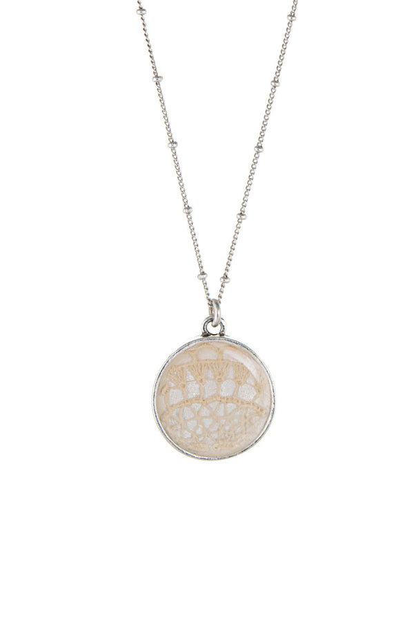 Marguerite Necklace Silver