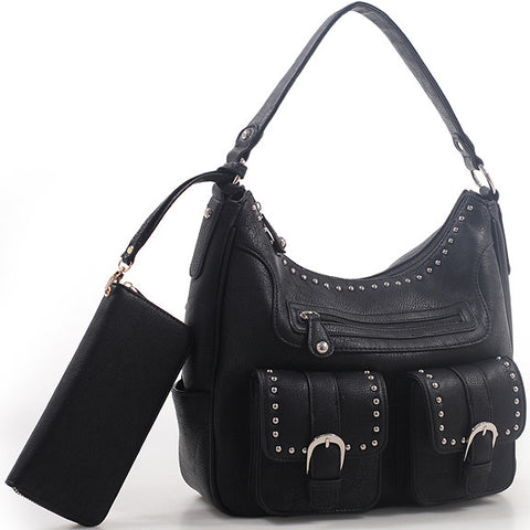 C504662_Jacqueline Concealed Carry Hobo Bag w/Matching Wallet