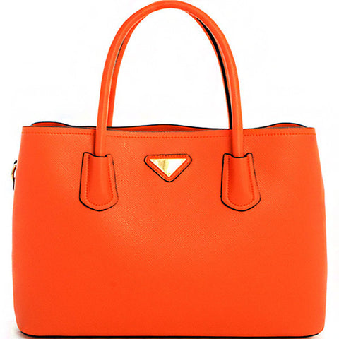 2in1 Designer Style Satchel-T1604-OR