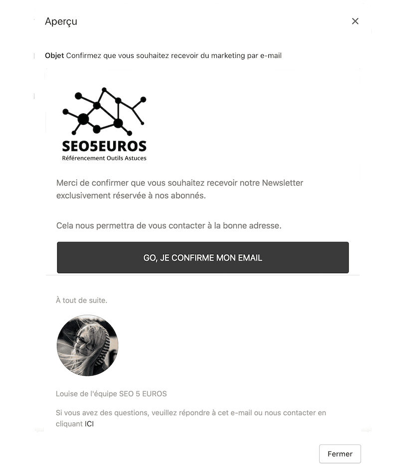 Creer newsletter Shopify