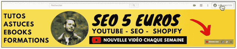 bouton s'abonner youtube