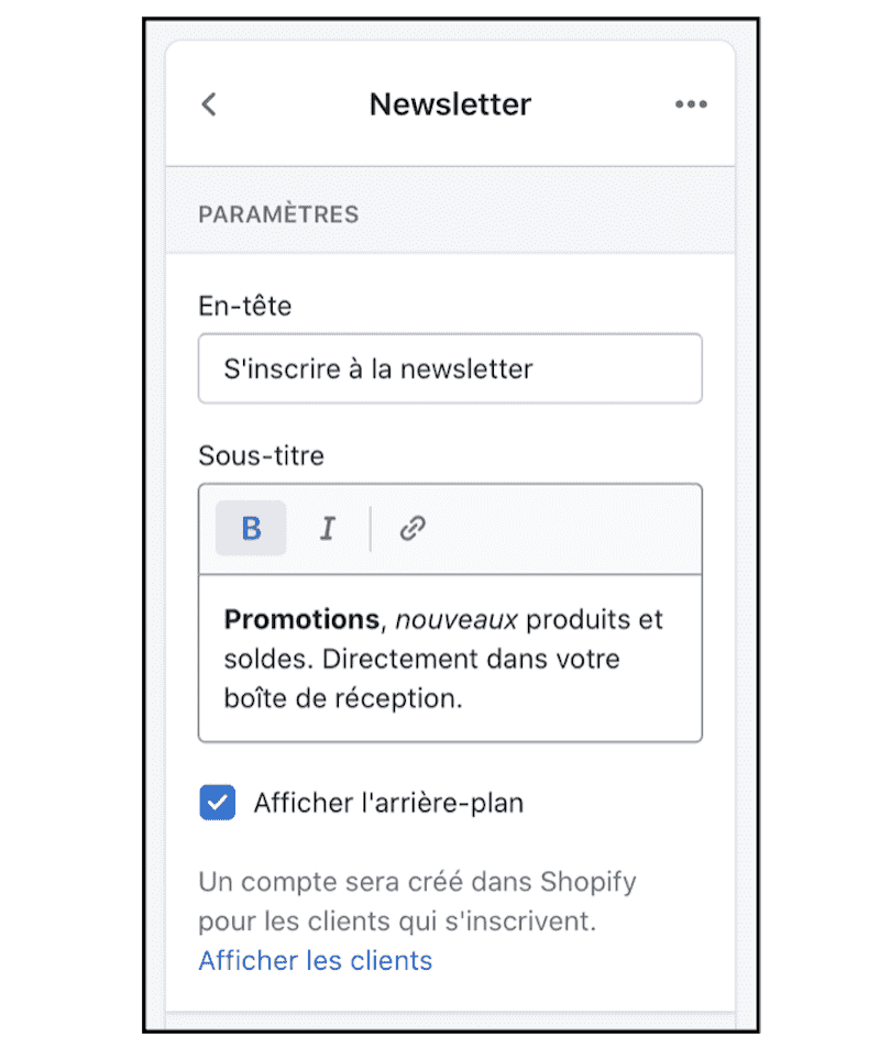 Shopify newsletter popup