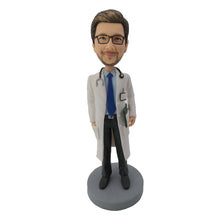 Load image into Gallery viewer, Doctor with stethoscope bobblehead