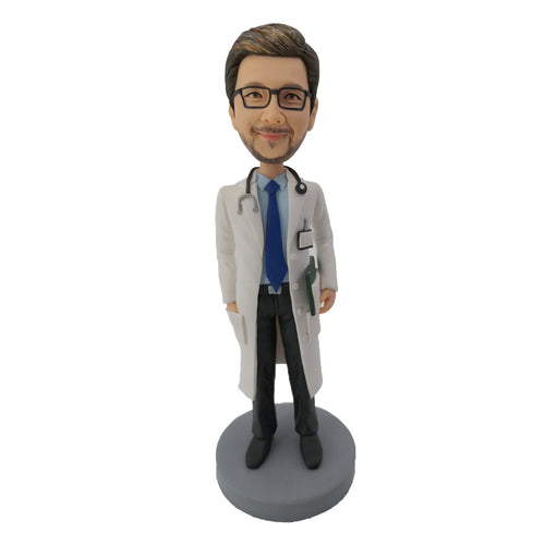 Doctor with stethoscope bobblehead