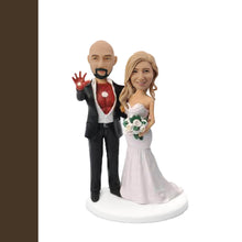 Load image into Gallery viewer, Iron Man Couple Bobblehead