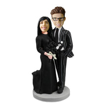 Load image into Gallery viewer, Couple Bobblehead in black suit