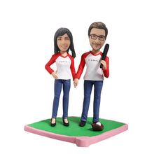 Load image into Gallery viewer, Baseball Couple Bobblehead