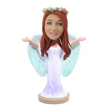 Load image into Gallery viewer, Angel Girl Personalized Bobblehead
