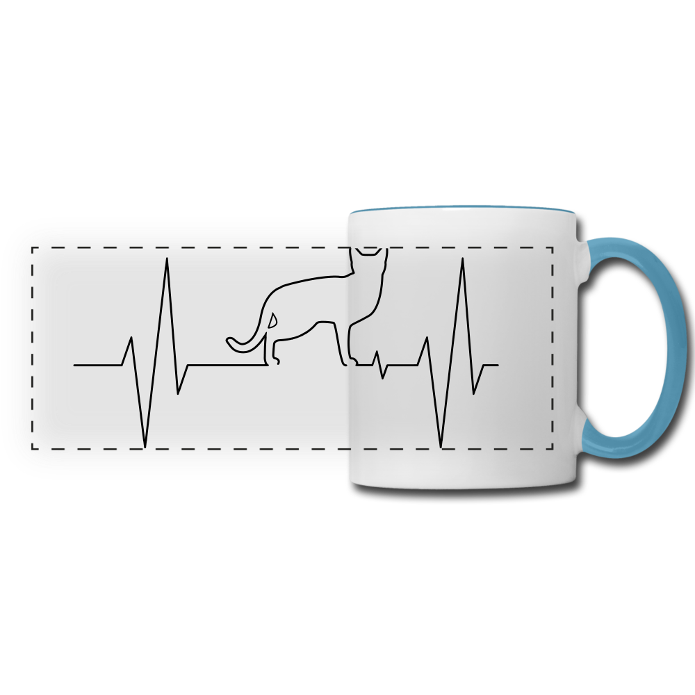 Panoramic Mug - white/light blue