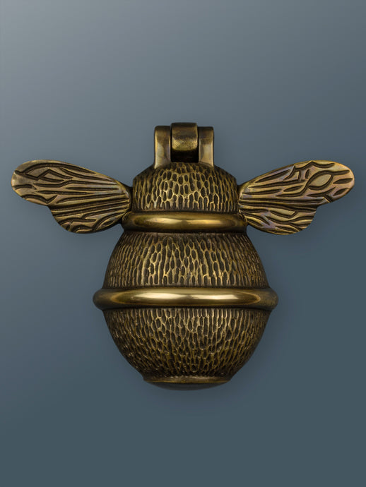 Brass Bumble Bee Door Knocker - Bronze Finish - Shop unique door knocker, wreaths & Christmas gift cards online! Brass bee