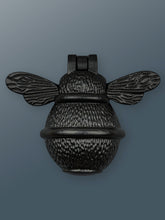 Load image into Gallery viewer, Brass Bee Door Knocker - Black Finish - Shop unique door knocker, wreaths & Christmas gift cards online! Brass bee
