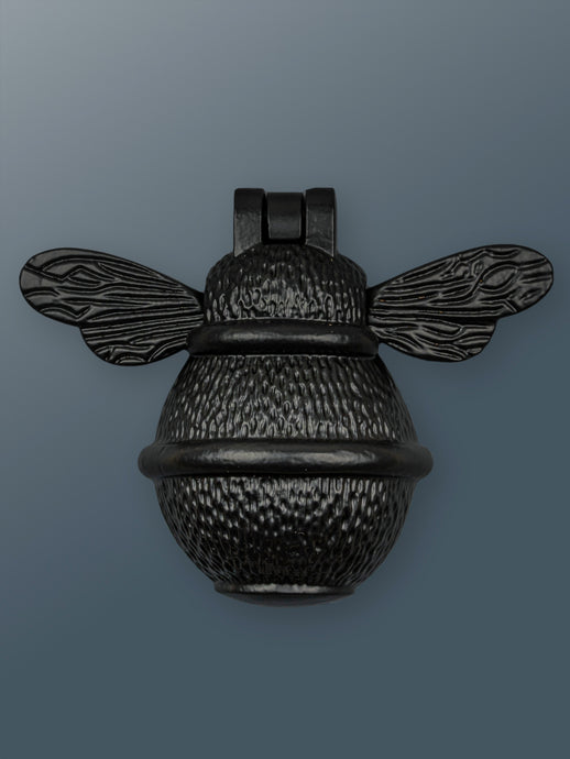 Brass Bee Door Knocker - Black Finish - Shop unique door knocker, wreaths & Christmas gift cards online! Brass bee