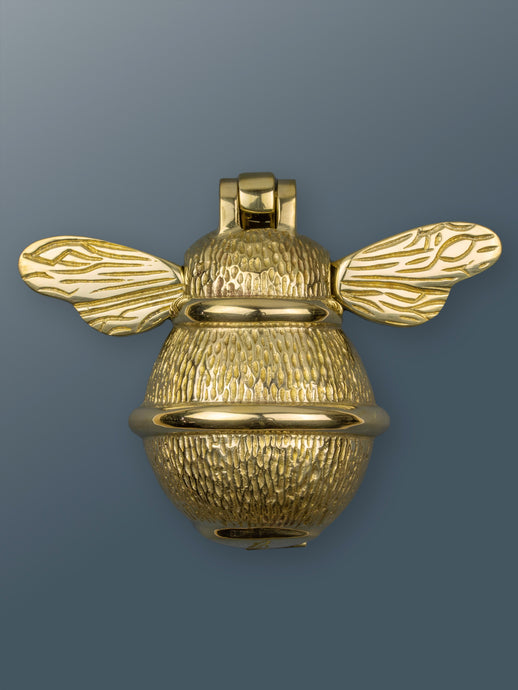 Brass Bumble Bee Door Knocker - Brass Finish - Shop unique door knocker, wreaths & Christmas gift cards online! Brass bee