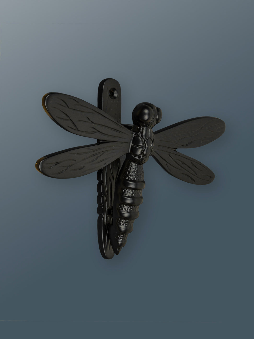 Brass Dragonfly Door Knocker - Black Finish - Shop unique door knocker, wreaths & Christmas gift cards online! Brass bee